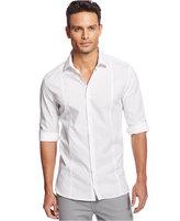 Alfani Men's Long-Sleeve Slim-Fit Solid Textured Shirt