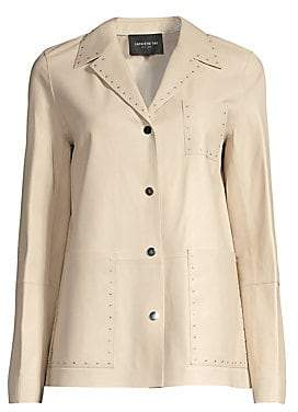 Lafayette 148 New York Women's Jolisa Glazed Leather Jacket