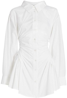 alexanderwang.t Long-Sleeve Waist Gathered Shirtdress