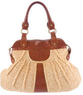 Valentino Leather-Trimmed Straw Hobo