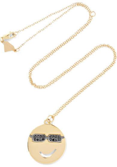 Alison Lou Joe Cool 14-karat Gold Diamond Necklace