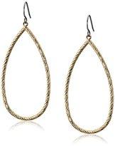 Kensie Gold-Plated Diamond Cut Tear Drop Earrings