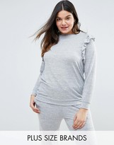 New Look Plus New Look Curve Frill Sweat Top