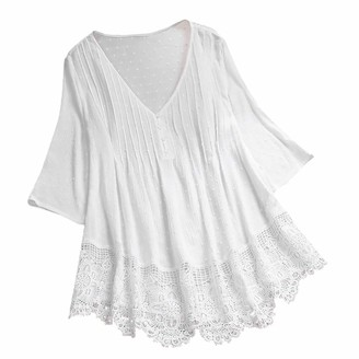Kobay Women Women's Tunic Tops Loose Blouse Shirts Tunic Tops Loose Blouse Shirts Sexy Slim Fit Stretchy Off Shoulder White