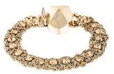 Christian Dior Crystal & Woven Chain Bracelet