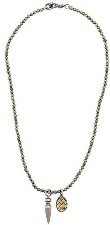 Bottega Veneta claw pendant necklace