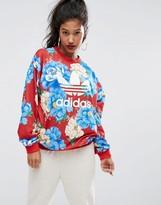 adidas Farm Big Floral Print Sweatshirt