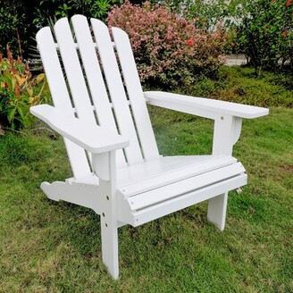 Adirondack Loon Peak Maly Somerville Wood Chair Loon Peak Color: Antique White