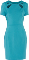 Halston Cutout stretch-jersey mini dress