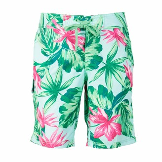 Kanu Surf Women's Plus-Size Hayley UPF 50+ Active Printed Swim and Workout Board Short