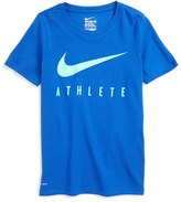 Nike 'Swoosh - Athlete' Dri-FIT Short Sleeve T-Shirt (Little Boys & Big Boys)