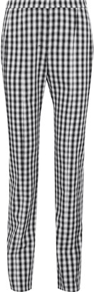 Narciso Rodriguez Gingham Wool-twill Straight-leg Pants
