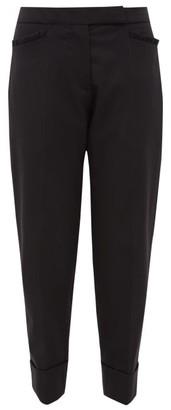 Simone Rocha Ruffle-trimmed Wool-twill Trousers - Black