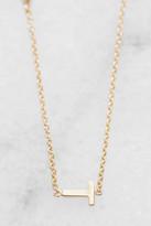 Tai Gold Alphabet Necklace T Gold