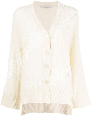 Stella McCartney Lace Panel Knitted Cardigan