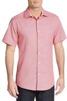 Saks Fifth Avenue Regular-Fit Printed Cotton Sportshirt