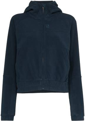 LNDR Ember zipped fleece hoodie