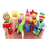 HaiHui Lovely Finger Puppets Set for kids, King Queen lovely Story Telling Puppets 6Pcs