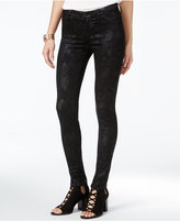 Celebrity Pink Juniors' Metallic-Print Skinny Jeans