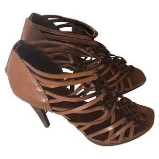 Diane von Furstenberg Brown Leather Heels