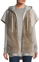 Lafayette 148 New York Fur-Front Hooded Jacket