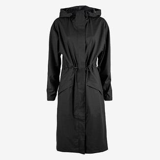 Rains Noon Coat - XXS/XS   polyester   black - Black/Black