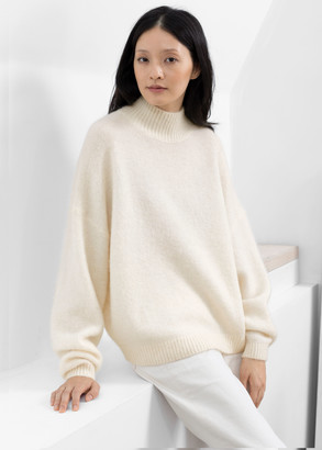And other stories Oversized Fuzzy Wool Blend Sweater
