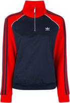 adidas zipped neck longsleeved jersey - women - Cotton/Polyester - 44