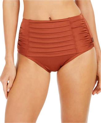 Calvin Klein Pleated High-Waist Bikini Bottoms Women Swimsuit