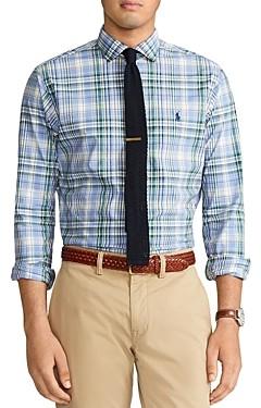 Polo Ralph Lauren Classic Fit Plaid Poplin Button Down Shirt