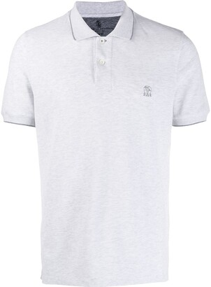 Brunello Cucinelli embroidered logo polo shirt