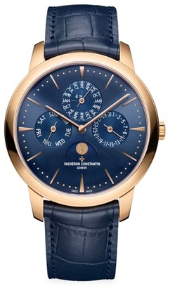 Vacheron Constantin Patrimony 18K 5N Rose Gold & Alligator Strap Perpetual Calendar Ultra-Thin Watch