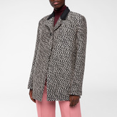 Paul Smith Women's Taupe And Black Wool-Blend Bouclé Coat