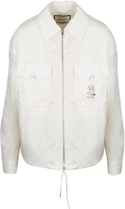 Gucci Cat Embroidered K-way Jacket