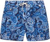 Polo Ralph Lauren Mid-length Paisley-print Swim Shorts - Blue