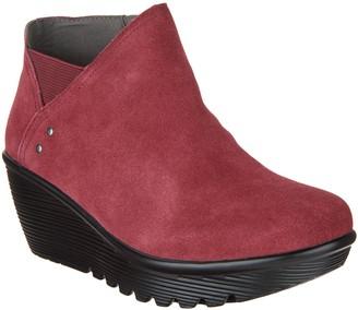 Skechers Suede Wedge Boots - Parallel