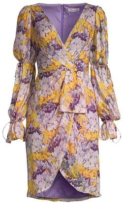 Flor Et. Al Morelias Printed Floral Chiffon Dress