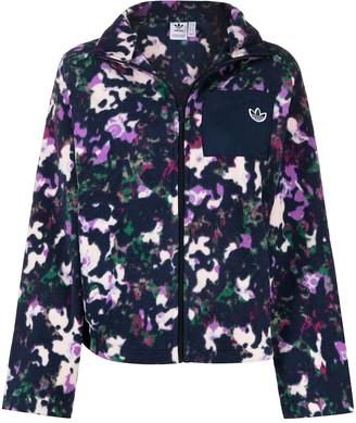 adidas Abstract-Print Zip-Up Jacket