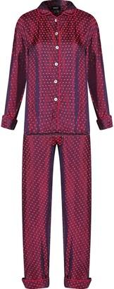 Gisy Pure Silk Plum Polka Dots Pajama Set