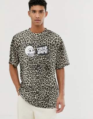 Cheap Monday t-shirt with cheetah print-Beige