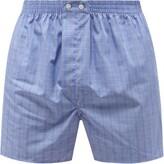 Derek Rose - Classic Fit Checked Cotton Boxer Shorts - Mens - Blue Multi