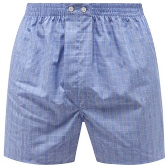 Derek Rose Classic Fit Checked-cotton Boxer Shorts - Mens - Blue Multi