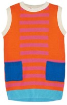 Margherita Toddler Girl's Retro Colorblock Sweater Knit Dress