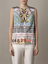 Mary Katrantzou Slope print cotton top