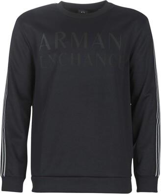 Armani Exchange A|X Men's Crew Neck Pullover with Sleeve Stripe