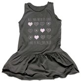 Rowdy Sprout Girl's All You Need Is Love Dress