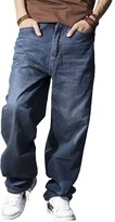 RUIXI Men's Hip Hop Jeans Loose Baggy Denim Long Pants