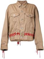 G.V.G.V. denim shoe lace up jacket