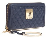 Moschino Jc5504 0751 Navy Blue Zip Around Wallet.
