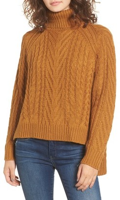DREAMERS BY DEBUT Women's Cable Knit Turtleneck Sweater